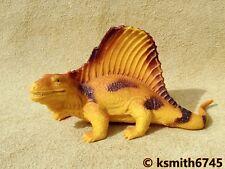 Ukrd Amarillo Dimetrodon Dinosaurio Juguete de plástico sólido Jurassic animal 💥