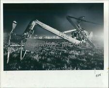 1975 Salt Lake City Police Helicopter Broken Tail Original News Service Photo