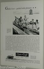 1931 Chris-Craft ad, Runabout & Cruiser, wood motorboat