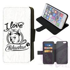 I Love My Chihuahua Flip Phone Case iPhone Galaxy 4 5 6 7 8 9 10 X XR XS Max