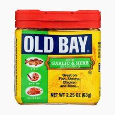 OLD BAY GARLIC & HERB SEASONING 2.25 oz FREE SHIPPING!!!