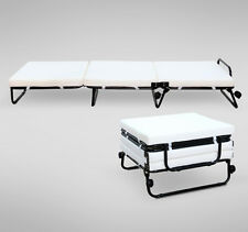 Modern Convertible Sofa Bed Ottoman Couch Mattress Lounge Bed Sleeper w/Casters
