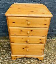 Medium Sized Pine Chest Of Drawers On Wheels Bedroom Good Condition