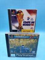 jeu video sony playstation 1 PS1 lot de 2 jeux sport complet BE foot F1