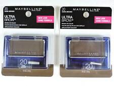 2x Maybelline Ultra-Brow Powder 20 Dark Brown Eyebrow Color Makeup 404 New