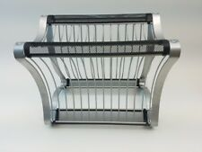 Home Trends Stackable Mesh Wire Dvd Rack Compact Storage for 13 Dvd's