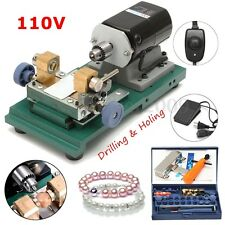 Pearl Drilling Holing Machine Driller Jewelry Punch Tools Full Set 110V 220W