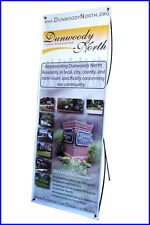 """X Banner Stand W24""""xH64"""" with FREE Printing, Trade Show Display"""
