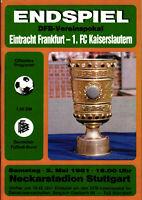 DFB-Pokalendspiel 1981 Eintracht Frankfurt - 1. FC Kaiserslautern, 02.05.1981
