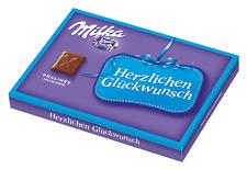 110g Milka Milchcreme Pralinen-Herzlichen Glückwunsch - Neuware