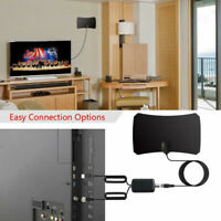 Indoor Digital TV Antenna Aerial Signal Amplified Thin HD HDTV Freeview 200 Mile