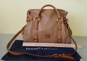 Dooney & Bourke,Used saddle pebble grain leather satchel in excellent condition