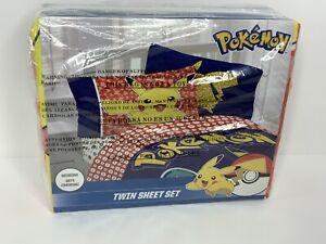 Franco Kids Bedding Super Soft Sheet Set, 3 Piece Twin Size, Pokemon