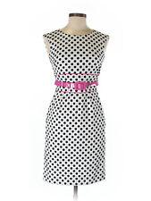 Tahari by ASL Womens Polka Dot Sheath Dress Size 2