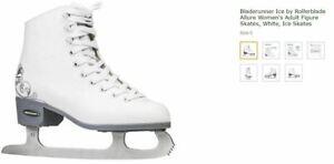 Rollerblade Bladerunner Ice Allure Women Adult Skate White Ice Skates Size US 6