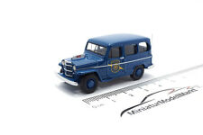 #87012 - bos-models Willys Jeep Station Wagon michigan state police 1954 - 1:87