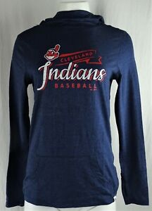 Cleveland Indians MLB Majestic Women's Slouch Neck Hoodie
