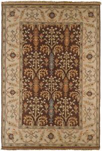 2x3 Surya Handmade Wool Brown Persien 9006 Area Rug - Approx 2' x 3'