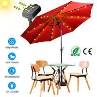 104 LED Solar Powered Patio Umbrella String Lights 8 Lighting Mode Outdoor Decor