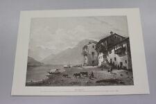 A Stampa- Print  Sala Comacina/lago di Como da un dipinto di Giuseppe Cannella