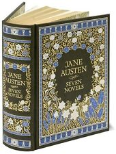 JANE AUSTEN SEVEN NOVELS DELUXE LEATHER & GOLD GIFT EDITION-BEAUTIFUL GIFT