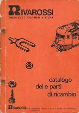 Rivarossi Catalogo delle Parti di Ricambio n°8356 1976  Treni Elettrici