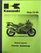 Kawasak Ninja ZX-9R Motorcycle Parts Catalog ZX900 Parts List