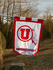 UNIVERSITY OF UTAH, House Flag, Supersize, NCAA FLAGS, Embroidered by EVergreen