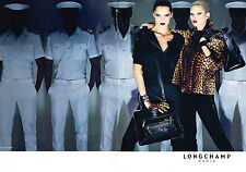 PUBLICITE ADVERTISING   2009   LONGCHAMP  haute couture KATE MOSS  ( 2 pages)