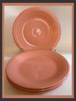 "Fiestaware Homer Laughlin Pink Dinner Plates - 10 3/8"" - SET OF 4"