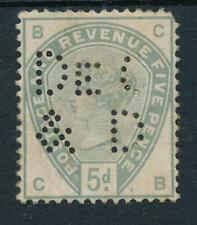 GB 1883-84 5d Dull Green SG 193 Mint Hinged 'PERFIN'