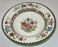 Copeland Spode CHINESE ROSE 629599 Green Trim Floral, Rim Fruit or Dessert Bowl