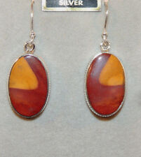 Sterling Silver with 21x14mm Mookaite Wire earrings (9413)