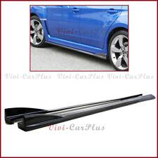 For 08-14 Subaru STI WRX CS Type Carbon Fiber Two Side Skirts Splitter Lip Pair