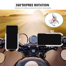Aluminum Alloy 360-degree Rotation Phone Holder Handlebar Bracket For Motorcycle