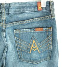 7 Seven for All Mankind A-Pocket Flare Denim Blue Jeans 29x32 Women's