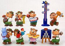 8 Überraschungsei Figuren Top Ten Teddies Volksfest Stimmung UeEi Paket