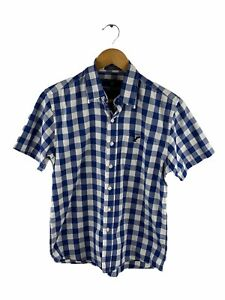 American Eagle Outfitters Button Up Shirt Mens Size S Blue Check Short Sleeve