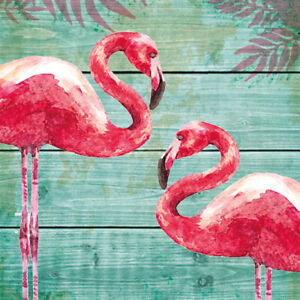 PPD Luncheon Napkins -Summer Flamingos
