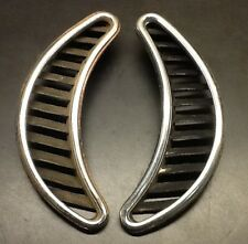 VW AirCooled Beetle Rear Intake Vents  70-77     Chrome Trimmed