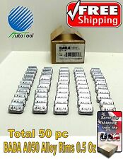 WHEEL WEIGHTS ALLOY Clip on RIMS 0.50 Oz, 50 pc Box BADA ALX 050  MADE IN USA