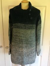 WALLIS teal green loose fit angora blend chunky knit cowl neck jumper S 10 12 14
