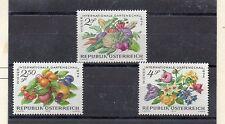 Austria Flores y Frutos serie del año 1974 (DB-317)