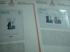 Aus Abo - Olympische Spiele 1980 2 Luxus - Block xx kplt BELIZE olympia moskau