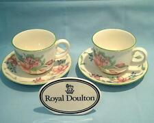 Royal Doulton Expressions Carmel set of 2 Cups & 2 Saucers - Pristine Free P&P