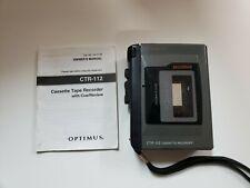 Optimus Radioshack Cassette Tape Recorder 14-1118 Ctr-112 Tested