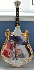 ELVIS PRESLEY - ENTERTAINER of the CENTURY GUITAR SHAPED PLATE - 1971 THE VISION