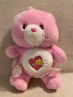 "Adorable BABY HUGS Care Bears 2002 Plush 9"" Pink Bear Wearing Diaper VHTF TCFC"