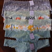 Lot of 5 Auden Women's Large 12-14 Panties Lacey Hipster Thong Cotton Blend Nwt