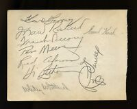 1946 Chicago Cubs Signed Album Page with HI BITHORN Puerto Rico d.51